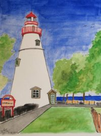 Marblehead Lighthouse, Ohio (USA) (Painting)