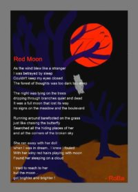 Red Moon (Poetic Art)