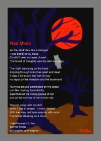 Red Moon (Poetic Art)